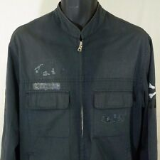 Armani Exchange Jacket Motorcycle Punk Military Beat Up Worn Faded Patches Sz M