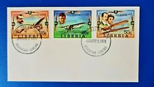 More details for liberia first day cover aircraft wilbur wright lindbergh bleriot aviation qu0