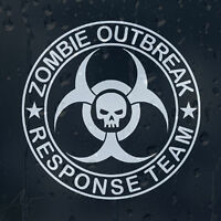 Zombie Outbreak Response Team Skull Car Or Laptop Decal Vinyl Sticker