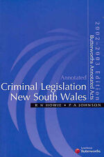 Annotated Criminal Legislation New South Wales 2002-03 Law textbook pickup/post