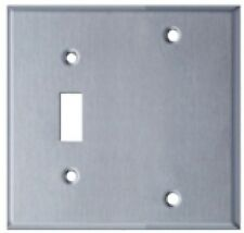 Westgate Ssc2A Two Gang with Toggle Switch Stainless Steel Wallplate
