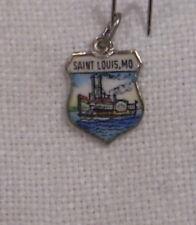 Vintage REU Sterling/Enamel St. Louis, Missouri - Steamboat/Paddle Wheeler Charm