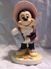 Walt Disney Productions. Minnie Mouse Figurine W Bonnet And Watering Can Cute!