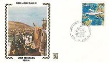 1980 POPE JOHN PAUL II BELEM BRAZIL VISIT POSTAL COVER