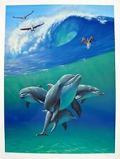 Charles Lynn Chick Bragg DOLPHINS Hand Signed Limited Edition Serigraph Art