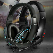 3.5mm Gaming Headset Headphones With Mic for PC Laptop PS4 Xbox One Switch UK
