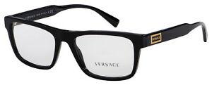 Versace Eyeglasses VE 3277 GB1 53 Black Frame [53-17-140]