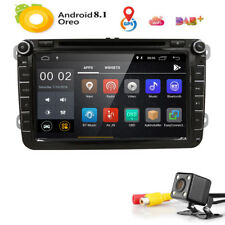 """8"""" Android 8.1 Car Radio Stereo DVD Player GPS TV DAB+CAM For VW PASSAT Skoda"""