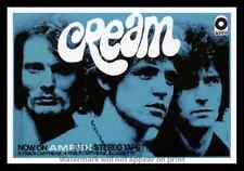 "Framed Vintage Style Rock 'n' Roll Poster ""CREAM""; 12x18"