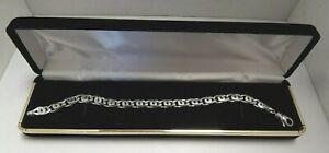 Sleek Design - 8 Inch - Platinum - Link Bracelet - Includes Box