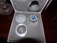 SWAROVSKI SILVER CRYSTAL #207886 BLUE FLOWER JEWEL BOX BRAND NEW IN BOX RETIRED