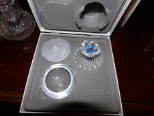 SWAROVSKI SILVER CRYSTAL #207886 BLUE FLOWER JEWEL BOX BRAND NEW IN BOX RETIRED