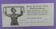 TEGTMEIER BROTHERS International Made to Measure Clothes old Unused Ink Blotter