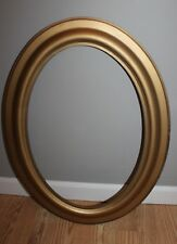 Vintage Gold Wooden Oval Large Picture Photograph Frame!