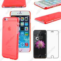 """Coque Housse Etui Rigide Ultra Fin Slim Rouge Apple iPhone 6 4,7"""" + Verre"""