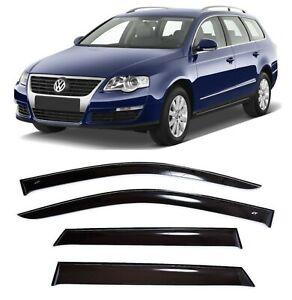 For VW Passat B6 Variant 2005-2010 Side Window Visors Rain Guard Vent Deflectors