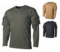 NEU US T-Shirt langarm mit Ärmeltaschen Bundeswehr Shirt BW Einsatzbluse