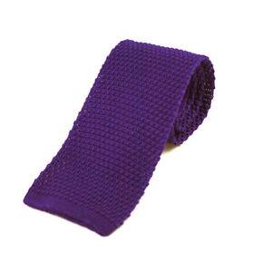 Men's Plain Purple Silk Knitted Tie (N997/17)
