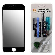 Front Glas f. iPhone 6 Frontglas Display Schwarz mit Reparaturset + gratis FOLIE