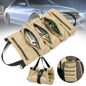 Canvas Roll Up Tool Bag Organizer Super Tool Roll Large Wrench Big Tool Bag