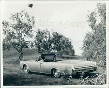 1969 Press Photo Stainless Steel Lincoln Continental Auto in Orchard