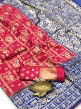 Deep Pink Colour Banarasi Silk Saree With Gold Zari Weaving Work Saree Blouse SL