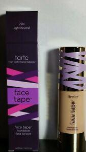 TARTE Face Tape Foundation 1oz New in Box(22N) Light Neutral