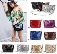 Women Messenger Shoulder Bag Geometry Lady Handbag Diamond Purse Fashion Satchel