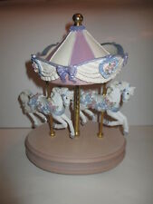 San Francisco Music Box Co. Carousel Collection 1995 Double Horse Two Horses