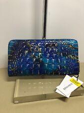 Brahmin Skyler Leather Large Travel Wallet in Phthalo Melbourne
