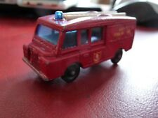 Ancien LESNEY Land Rover Fire truck REF 57  excellent état rare