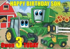 personalised birthday card Tractor any name/age/relation