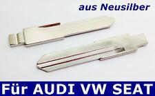 2x klappschlüssel rohlinge Auto Schlüssel aus Neusilber für AUDI VW Seat
