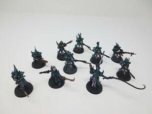 Warhammer 40K Dark Eldar Kabalite Warriors Squad (10) Drukhari Well Painted G296