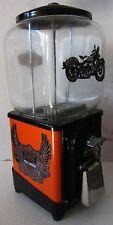 Topper Round Gum 1c Dispenser circa 1940's Harley-Davidson (orange/black)