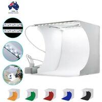 Portable Mini Double LED Photo Studio Photography Light Tent Backdrop Cube Box