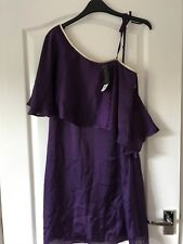 BNWT Sz10 Purple One Shoulder Dress Pretty Occasion Party