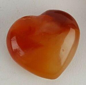 "MINI 50MM 1.5"" POLISHED STONE HEARTS RED CARNELIAN WORRY STONE LOVE"