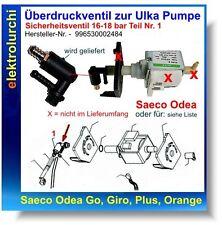 Überdruckventil zur Ulka Pumpe Saeco Odea Go, Intelia, Talea, 996530002484