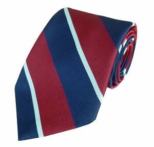 LIFETIME GUARANTEE Royal Air Force Regimental Woven Striped Tie RAF Made In GB