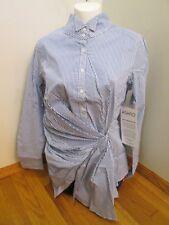Ashro Women's Clothing Fancy Frill Striped Blouse Shirt Top Size 14 NEW NWT