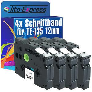 4x Schriftband für Brother TZe-135 P-Touch 1000 1000 BTS 1000 F 1005 BTS 1005 F