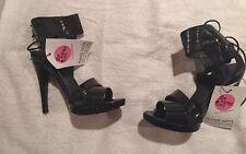 Chloe High Heel Black / Dark Navy Sandals 37.5 / UK 4.5 New In Box