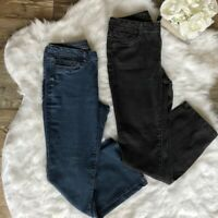 LOT of 2 Pieces Vera Wang -Sz 10- Women's Blue and Black Boot Cut Mid Rise Jeans