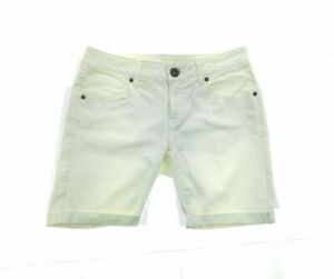 Juniors Ivory Rolled Hem Jean Shorts Casual Summer Size 2