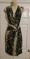 Ladies silver grey & black Bodycon Dress size 12 by Dorothy Perkins