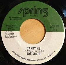 Joe Simon 45 Carry Me / Do You Know What It's Like To Be Lonesome?