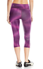 NEW XL Puma Womens Active PUMA All Eyes on Me 3/4 Tight Pink Glow/Magenta purple