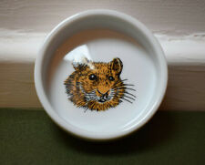 Ceramic hamster small animal food bowl/treat bowl, hamster picture, cute, retro