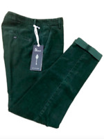 Dondup Pantalone Uomo Mod. UP235 GAUBERT, VELLUTO, VERDE, Nuovo e Originale -50%